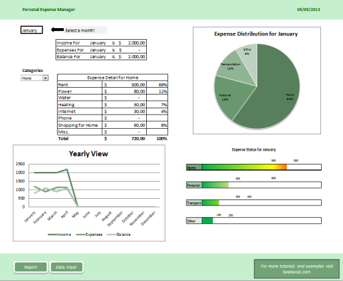 Personal Expense Manager - Beat Excel!