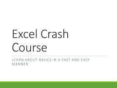 Learn about Excel quickly!